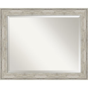 Crackled Silver 33W X 27H-Inch Bathroom Vanity Wall Mirror