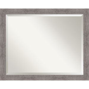 Pinstripe Gray 32W X 26H-Inch Bathroom Vanity Wall Mirror