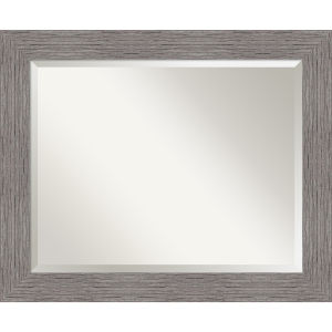 Pinstripe Gray 34W X 28H-Inch Bathroom Vanity Wall Mirror