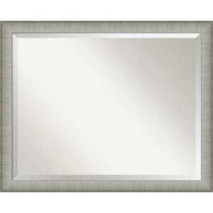 Elegant Pewter 31W X 25H-Inch Bathroom Vanity Wall Mirror