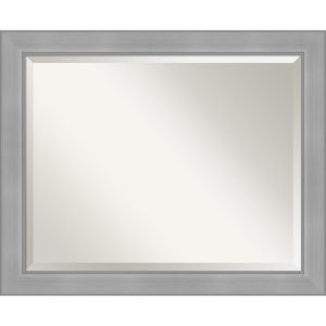 Vista Brushed Nickel 33W X 27H-Inch Bathroom Vanity Wall Mirror