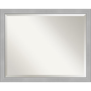 Vista Brushed Nickel 31W X 25H-Inch Bathroom Vanity Wall Mirror