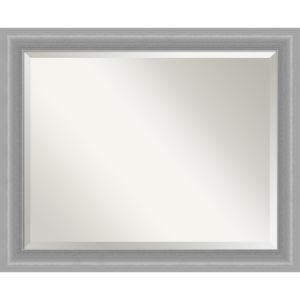 Peak Brushed Nickel 33W X 27H-Inch Bathroom Vanity Wall Mirror