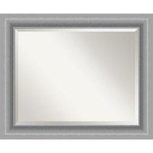 Peak Brushed Nickel 34W X 28H-Inch Bathroom Vanity Wall Mirror