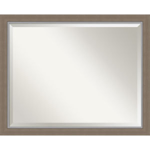 Eva Brown 31W X 25H-Inch Bathroom Vanity Wall Mirror