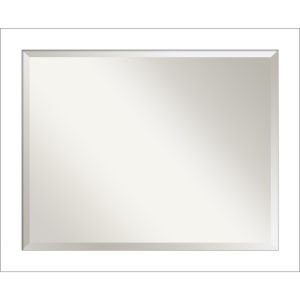 Wedge White 32W X 26H-Inch Bathroom Vanity Wall Mirror