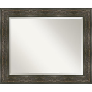 Rail Brown 34W X 28H-Inch Bathroom Vanity Wall Mirror