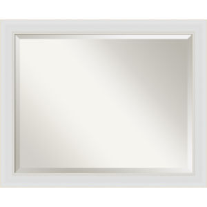 Flair White 32W X 26H-Inch Bathroom Vanity Wall Mirror