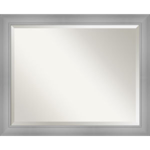 Flair Brushed Nickel 32W X 26H-Inch Bathroom Vanity Wall Mirror