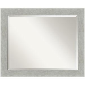 Gray Frame 33W X 27H-Inch Bathroom Vanity Wall Mirror