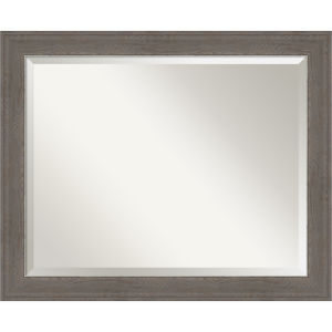 Alta Brown and Gray 33W X 27H-Inch Bathroom Vanity Wall Mirror