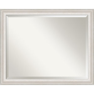 Trio White and Silver 32W X 26H-Inch Bathroom Vanity Wall Mirror