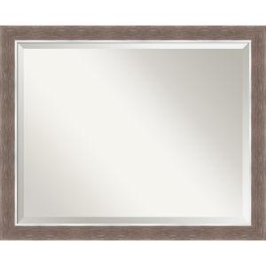 Noble Mocha 32W X 26H-Inch Bathroom Vanity Wall Mirror