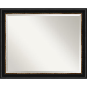 Manhattan Black 32W X 26H-Inch Bathroom Vanity Wall Mirror