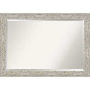 Crackled Silver 41W X 29H-Inch Bathroom Vanity Wall Mirror