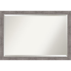 Pinstripe Gray 40W X 28H-Inch Bathroom Vanity Wall Mirror