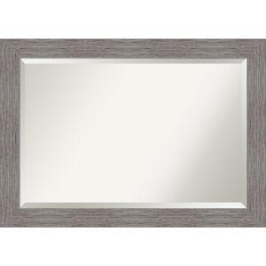 Pinstripe Gray 42W X 30H-Inch Bathroom Vanity Wall Mirror