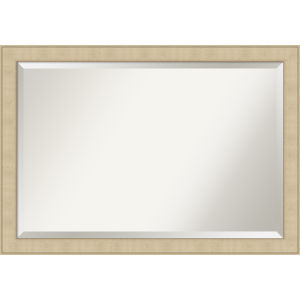 Honey and Silver 40W X 28H-Inch Bathroom Vanity Wall Mirror