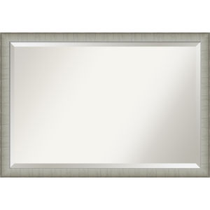 Elegant Pewter 39W X 27H-Inch Bathroom Vanity Wall Mirror