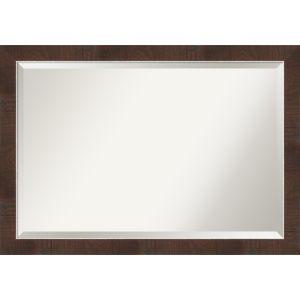 Wildwood Brown 40W X 28H-Inch Bathroom Vanity Wall Mirror