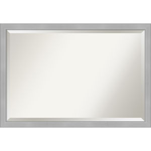 Vista Brushed Nickel 39W X 27H-Inch Bathroom Vanity Wall Mirror