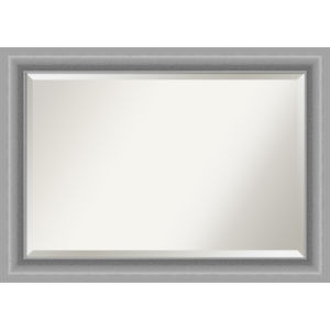 Peak Brushed Nickel 42W X 30H-Inch Bathroom Vanity Wall Mirror