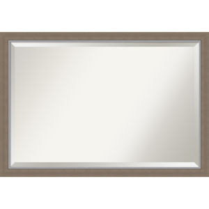 Eva Brown 39W X 27H-Inch Bathroom Vanity Wall Mirror