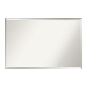 Wedge White 40W X 28H-Inch Bathroom Vanity Wall Mirror