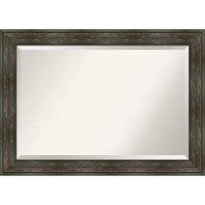 Rail Brown 42W X 30H-Inch Bathroom Vanity Wall Mirror