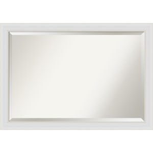 Flair White 40W X 28H-Inch Bathroom Vanity Wall Mirror