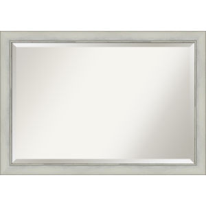 Flair Silver 40W X 28H-Inch Bathroom Vanity Wall Mirror