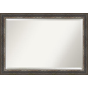 Alta Rustic Brown 41W X 29H-Inch Bathroom Vanity Wall Mirror
