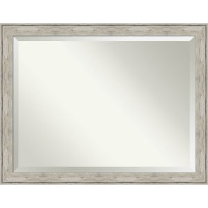 Crackled Silver 45W X 35H-Inch Bathroom Vanity Wall Mirror