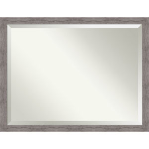 Pinstripe Gray 44W X 34H-Inch Bathroom Vanity Wall Mirror