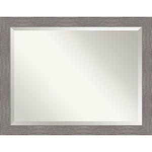 Pinstripe Gray 46W X 36H-Inch Bathroom Vanity Wall Mirror