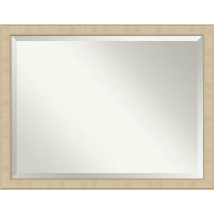 Honey and Silver 44W X 34H-Inch Bathroom Vanity Wall Mirror