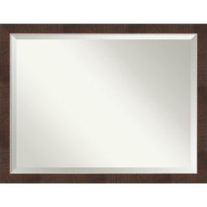 Wildwood Brown 44W X 34H-Inch Bathroom Vanity Wall Mirror