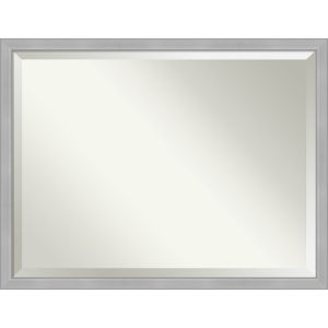 Vista Brushed Nickel 43W X 33H-Inch Bathroom Vanity Wall Mirror