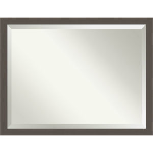 Pewter 44W X 34H-Inch Bathroom Vanity Wall Mirror