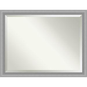 Peak Brushed Nickel 45W X 35H-Inch Bathroom Vanity Wall Mirror
