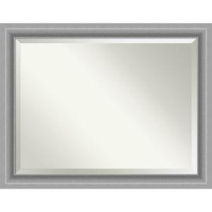 Peak Brushed Nickel 46W X 36H-Inch Bathroom Vanity Wall Mirror