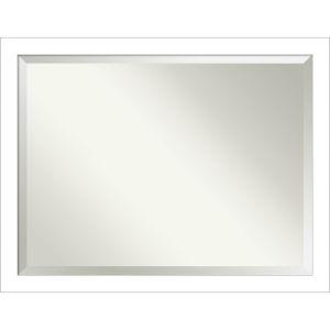 Wedge White 44W X 34H-Inch Bathroom Vanity Wall Mirror