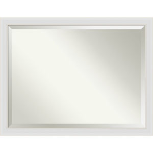 Flair White 44W X 34H-Inch Bathroom Vanity Wall Mirror