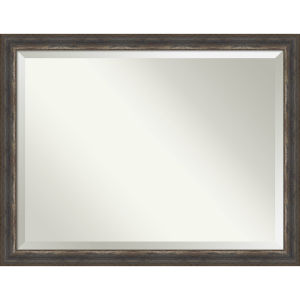 Alta Rustic Brown 45W X 35H-Inch Bathroom Vanity Wall Mirror