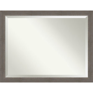 Alta Brown and Gray 45W X 35H-Inch Bathroom Vanity Wall Mirror