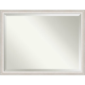 Trio White and Silver 44W X 34H-Inch Bathroom Vanity Wall Mirror