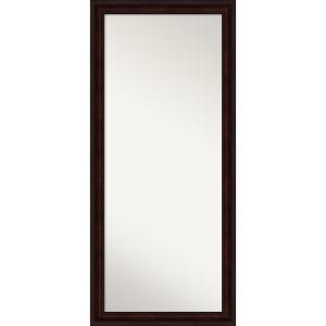 Brown 29W X 65H-Inch Full Length Floor Leaner Mirror