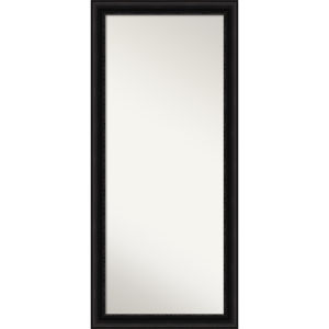 Parlor Black 30W X 66H-Inch Full Length Floor Leaner Mirror
