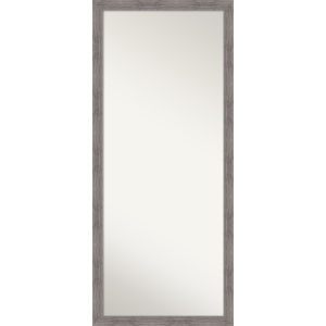 Pinstripe Gray 28W X 64H-Inch Full Length Floor Leaner Mirror