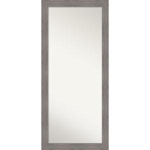 Pinstripe Gray 30W X 66H-Inch Full Length Floor Leaner Mirror